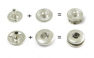 Snap fasteners - nickel